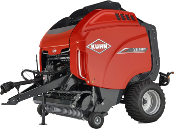 KUHN VB 3190 variable round baler silhouette