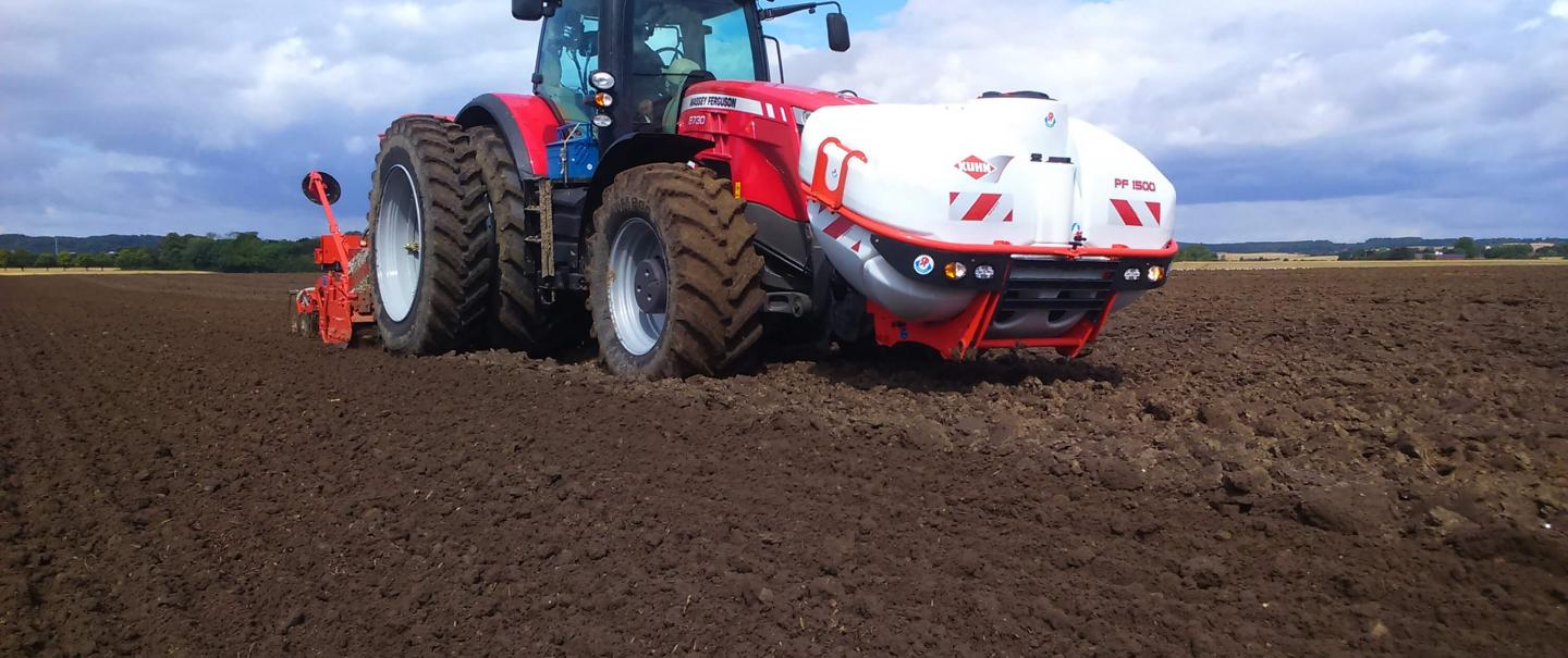 PF 1500 combined with a seed drill